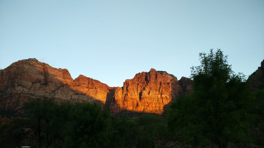 sunset zion park