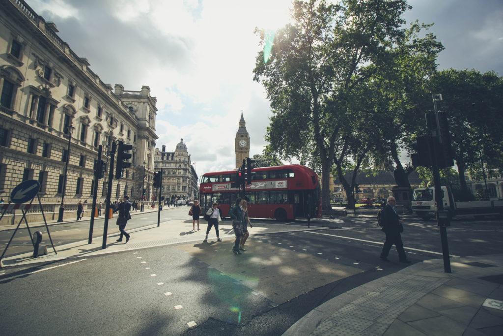 walking london street
